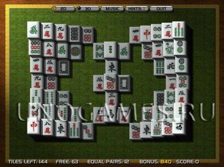 Игра 3D Маджонг. Играть онлайн в 3д Маджонг бесплатно во весь экран.