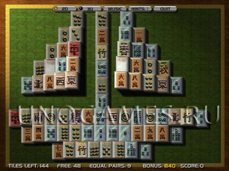 Маджонг Солитер 3D играть онлайн бесплатно