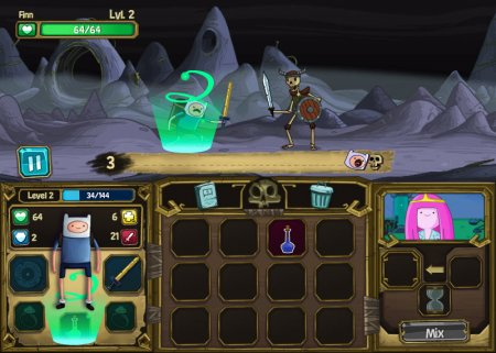 Играть в игру фин против скелетов 2